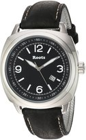 Roots Men's 'Core' Quartz Stainless Steel and Leather Casual Watch, Color: (Model: 1R-PR100BA3B)