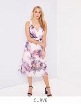 Little Mistress Curve Floral Print Midi Dress