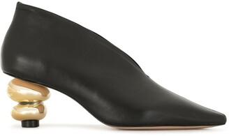 Vicenza Contrast-Heel Boots