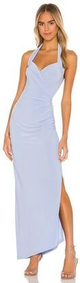 Norma Kamali X REVOLVE Halter Sweetheart Side Drape Gown