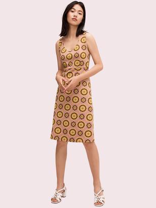Kate Spade Geo Floral Jacquard Dress