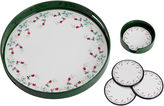 Pfaltzgraff Winterberry 5-pc. Round Tray and Coaster Set