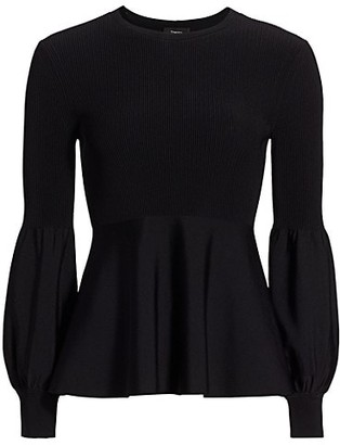 Theory Peplum Sweater