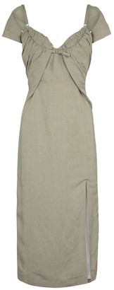 Jacquemus La Robe Tovallo linen-blend midi dress