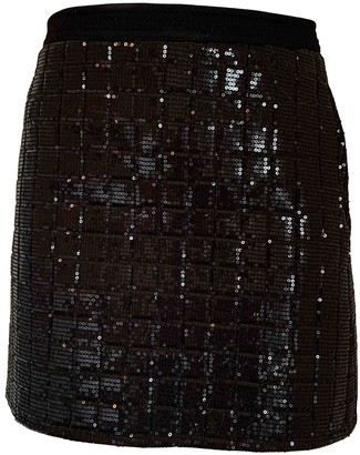 Karl Lagerfeld Paris Black Glitter Skirt for Women
