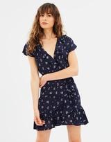 Mng Printed Ruffle Dress