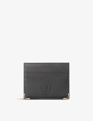 Cartier Must de leather cardholder