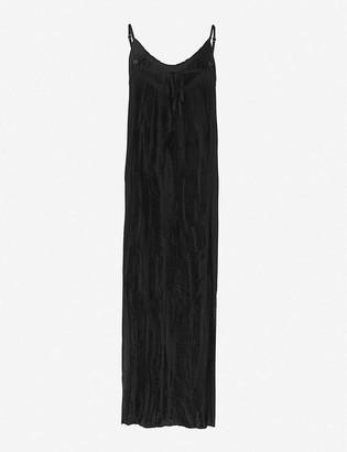 AllSaints Romey pleated woven maxi dress