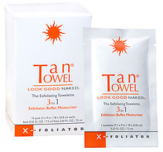 TanTowel X-foliator 3-in-1 Exfoliating Towelette - 10 Pack