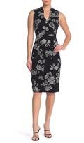 Nina Leonard U-Neck Sleeveless Midi Dress
