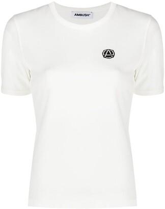 Ambush Emblem Slim Fit T-Shirt Off White Black