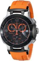 Tissot Men's T-Race Quartz Orange Strap Chronograph Dial Watch T0484172705704
