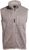 Oatmeal Heather Fleece Quarter-Zip Vest - Men's Regular