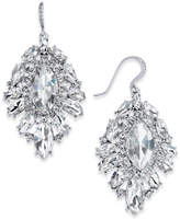 Charter Club Silver-Tone Crystal Cluster Drop Earrings, Created for Macy's