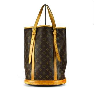 Louis Vuitton Bucket Brown Cloth Handbags