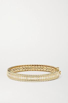 Sydney Evan 14-karat Gold Diamond Bangle