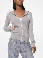 Michael Kors Cashmere and Cotton Zip-Up Hoodie