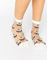 Asos Holidays Pudding Sheer Ankle Socks