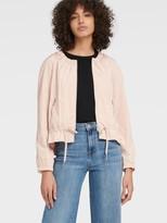 DKNY Zip-up Jacket With Drawstring Waist