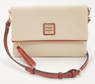 Dooney & Bourke Pebble Leather Foldover Zip Crossbody