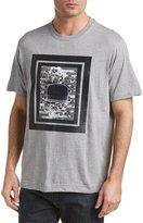 Robert Graham Mens Stripe Top Hat Knit Classic Fit T-Shirt, M, Grey