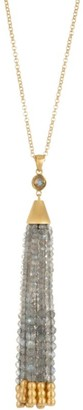 Dean Davidson Samba 22K Goldplated & Labradorite Tassel Pendant Necklace