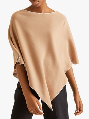 Jigsaw Merino Wool Blend Reversible Poncho