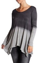 Soprano Long Sleeve Ombre Blouse