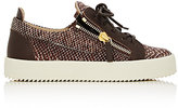 Giuseppe Zanotti Women's Double-Zip Low-Top Sneakers-BROWN