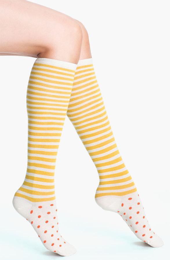 Kate Spade 'dot Stripe' Knee Highs (2 For $22)