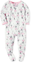 Carter's 1-Pc. Ballerina-Print Footed Pajamas, Baby Girls (0-24 months)