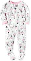 Carter's 1-Pc. Ballerina-Print Footed Pajamas, Baby Girls (0-24 months)