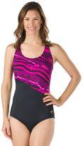 Speedo Women's Mineral Striped One-Piece Swimsuit