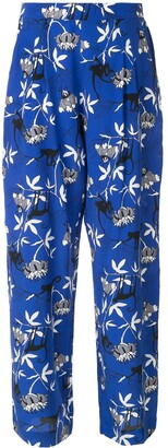 Markus Lupfer floral print trousers