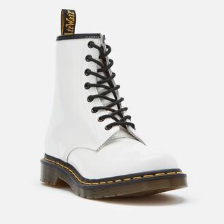 Dr. Martens Women's 1460 Patent Lamper 8-Eye Boots - White