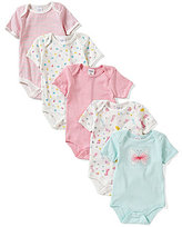Starting Out Baby Girls Newborn-6 Months 5-Pack Butterfly Bodysuits