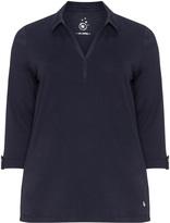 Via Appia Plus Size Cotton polo shirt