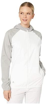 adidas Provisional Rain Jacket (White/Medium Solid Grey) Women's Clothing