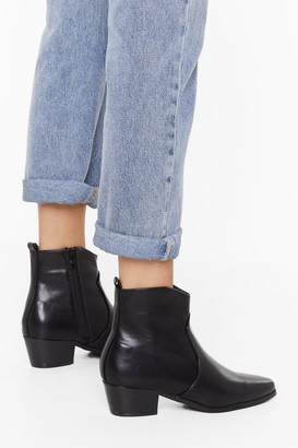 Nasty Gal Womens Walk This Way Faux Leather Boots - Black - 3