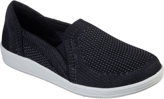 Skechers Flat Knit Slip On Shoes - Madison Ave Admissible