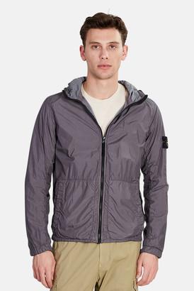 Stone Island Nylon Crinkle Zip Up Jacket