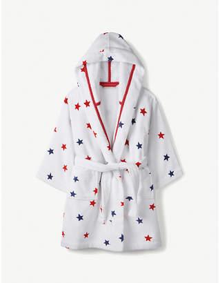 The Little White Company Star-print cotton bathrobe