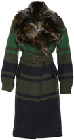 Mr & Mrs Italy Military Wool Patch Coyote Trench Coat