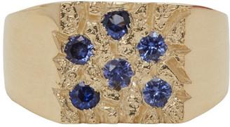 Bleue Burnham SSENSE Exclusive Gold Mini The Grand Rose Garden Ring