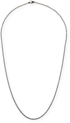 Margo Morrison Rhodium-Plated Sterling Silver Chain Necklace with Spinel Clasp, 36""