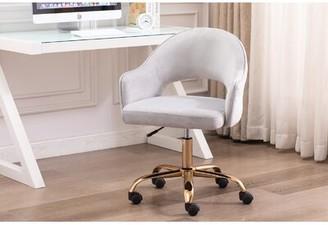 Everly Quinn Neumann Task Chair Upholstery Color: Gray