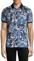 Etro Men's Cotton Printed Polo Shirt