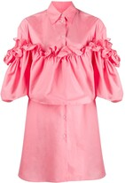 MM6 MAISON MARGIELA ruffle layered shirt dress