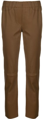 Luisa Cerano Leather Track Pants