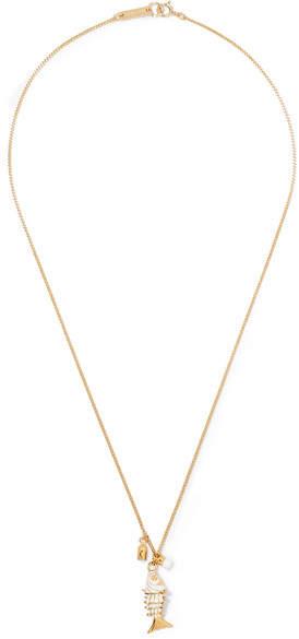 Isabel Marant Gold-tone And Enamel Necklace
